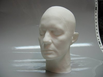 For Disney's A Christmas Carol, we created this 3D scan and print of Robin Wright's head.