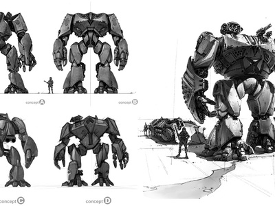 This is the MORAV giant robot concept design illustration that we created for the MORAV graphic novel, designed and created along with several other attached working projects in their entirety by Fonco Studios.