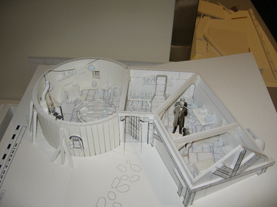 This is the Disney's Christmas Carol card model set design mock up for the film.