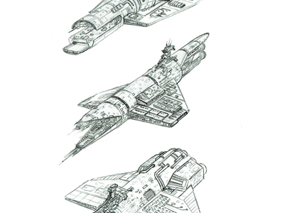 We created the Alien Expedition miniature spacecraft concept design illustration.