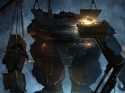 This MORAV Graphic novel cover art we designed shows the MORAV Gen 1 Giant Robot being repaired.