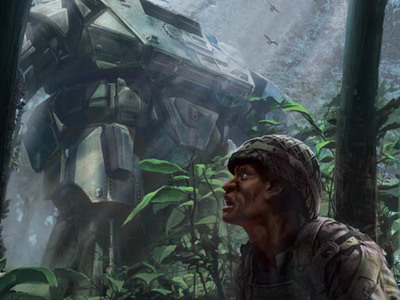 This MORAV Graphic novel cover art we designed depicts the MORAV Gen 1 Giant Robot sighting in the jungle.