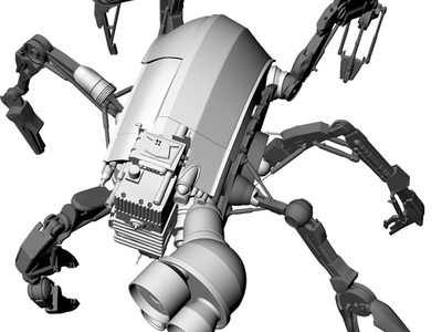 This is a 3D computer model of the Two-Cat Character featured in Disney's Mars Needs Moms for creating a 3D printed maquette.