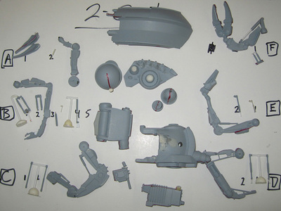 These are the 3D printed maquette parts for the Two-Cat Character featured in Disney's Mars Needs Moms.