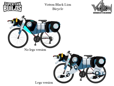 We created this Voltron Bicycle design concept art and later fabricated it for an episode of SuperFan Builds. https://youtu.be/8ipTWUPZLrM
