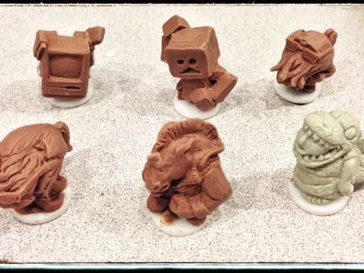 We desinged and sculpted these game pieces, then tested them for mass manufacturing.