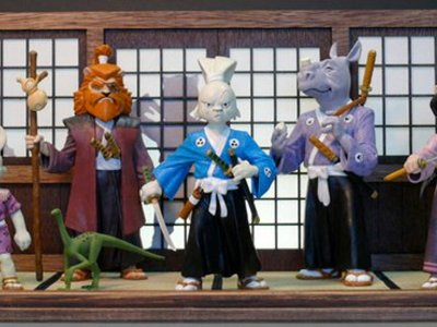 "These are the Usagi Yojimbo Series 1 prototype statues and display diorama we created for a collaboration with Roku to produce the stop motion animated short, ""The Last Request."""