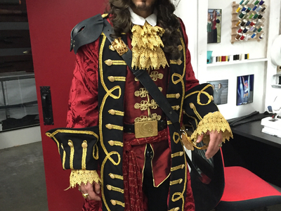 This pirate costume was created by Castle Corsetry for a pirate film produced and shot for an in house.