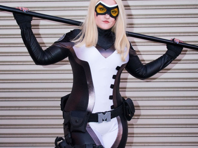 This Mockingbird uniform worn by Lauren Matesic was created for Marvel Becoming by Castle Corsetry. https://youtu.be/Juib-84lBnw