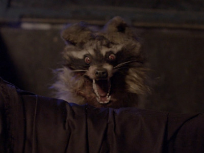This is a life size, animatronic, raccoon hand puppet used in an upcoming experimental film collaboration between Fonco Studios and Pixelogic staring James Hong.
