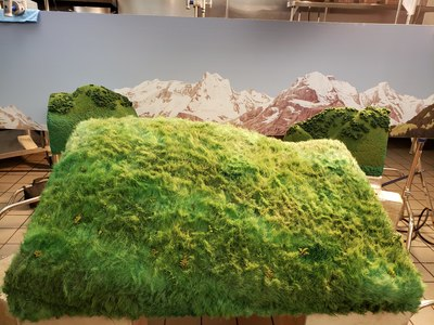 "This 1/12 scale miniature grassy mountain field was created by Fonco for Del Taco's ""The Hardest Working Hands in Fast Food"" commercial."