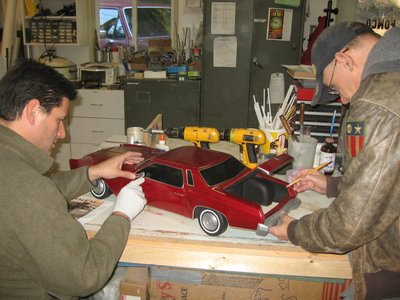 Here is a behind the scenes shot of our 1/6 scale 1973 Monte Carlo miniature car we created with working trunk for the Eminem Brisk stop motion Superbowl commercial. https://youtu.be/CCBnUx5uMqE