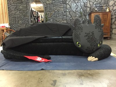 From Netflix's How to Train your Dragon: Race to the Edge, came the inspiration for this Toothless couch that we designed and created for the show Super-Fan Builds. http://Youtu.be/laybKNAzUIs