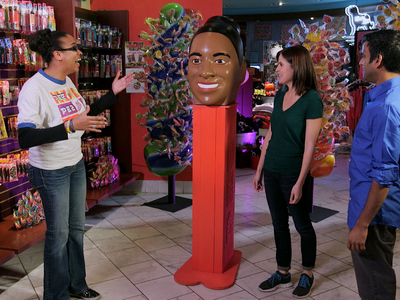 Here is the large PEZ head, completed vacuum form, painted and assembled, as featured on SuperFan Builds.