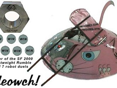 We designed and fabricated this Mouse Mecca-Catbot that was used in competition for the BattleBots series on Comedy Central.
